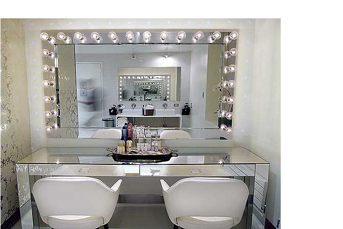 vanity with lights on mirror. Hollywood Style Dressing Table Mirror With Lights Home  Vanity Design Ideas
